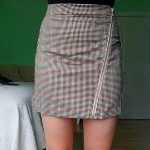 Plaid Zipper Skirt